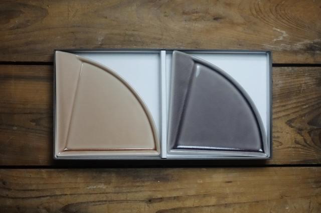 m.m.d. / 扇皿2枚セット / marriage colors line