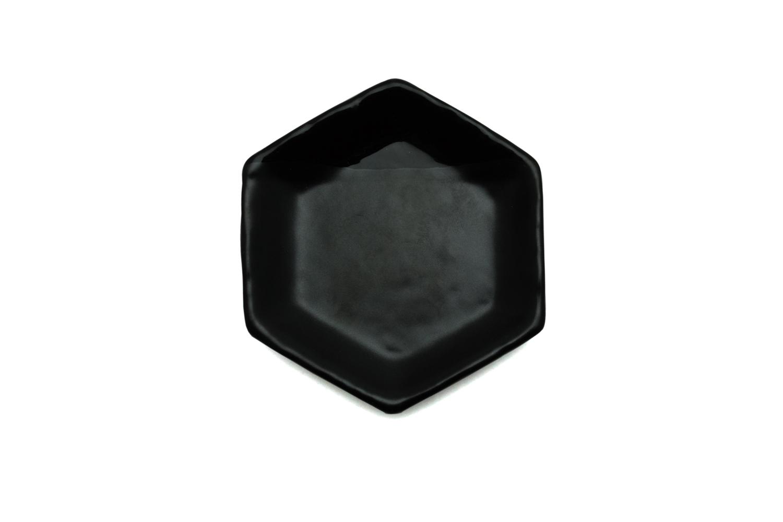 六角豆皿 ブラック