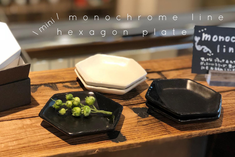 monochrome lineの六角豆皿